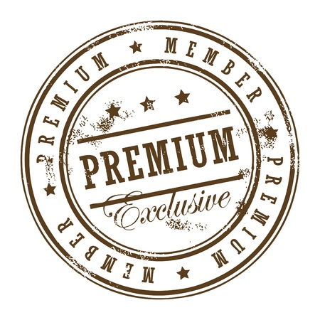 privilege: Grunge rubber stamp with the text premium member