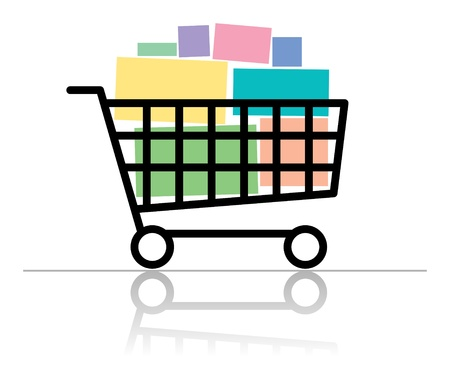 Shopping cart Stock Vector - 13796156