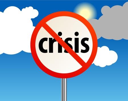 End of a crisis, abstract Stock Vector - 13796239