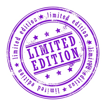 edizione straordinaria: Grunge timbro di gomma con piccole stelle e l'edizione limitata all'interno di parola