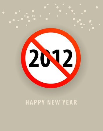 Abstract of happy new year card Vector