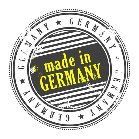 Grunge rubber stamp made in Germany Vector