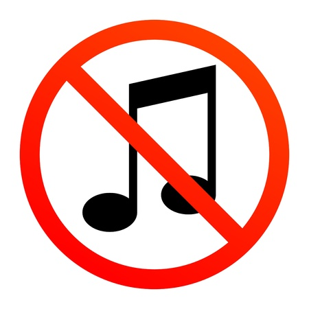 No music sign Stock Vector - 13796236
