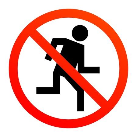 no correr: No hay señales de ejecución