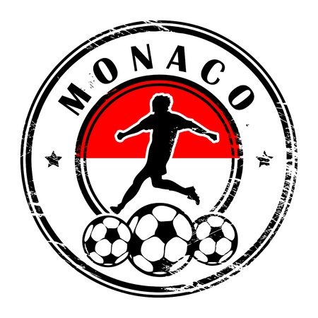 monaco: Grunge stamp with football and name Monaco