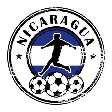 Grunge stamp with football and name Nicaragua Stock Vector - 13822009
