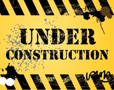 Under construction grunge background Stock Vector - 13864735
