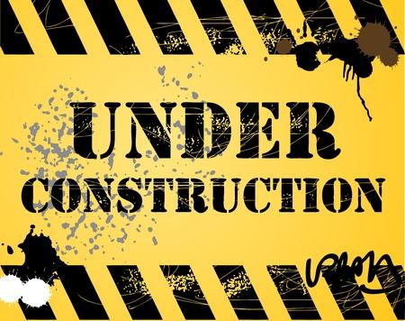 Under construction grunge background Stock Vector - 13864735