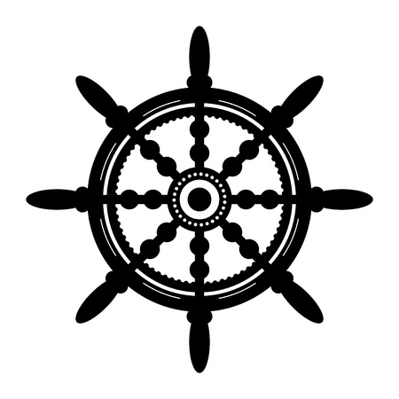 ruder: Schiff Lenkrad Illustration