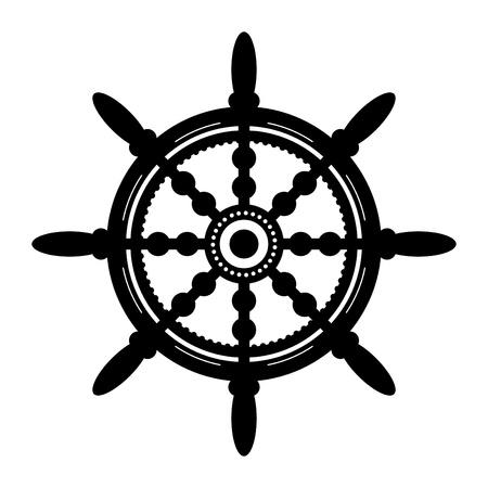 navy: Ship steering wheel