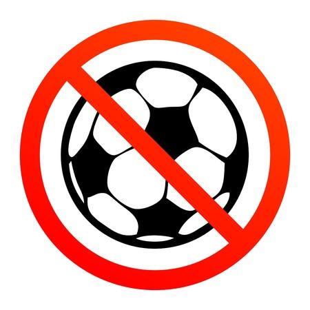 No play or football sign Vector