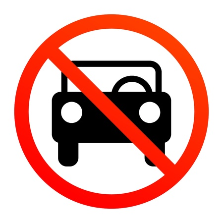 No car or transport sign Stock Vector - 13864716