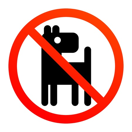 No dogs or pets sign Vector