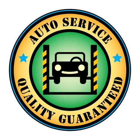 Car service label Vector