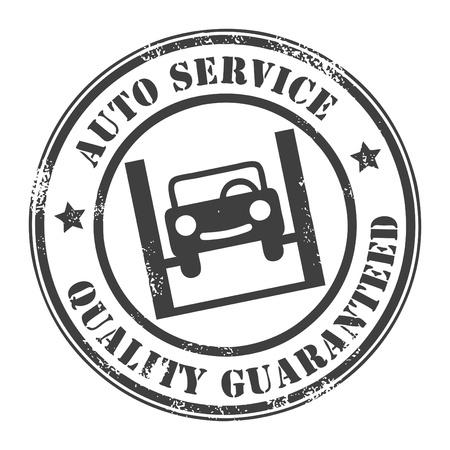 mecanico automotriz: Servicio de coches sello grunge