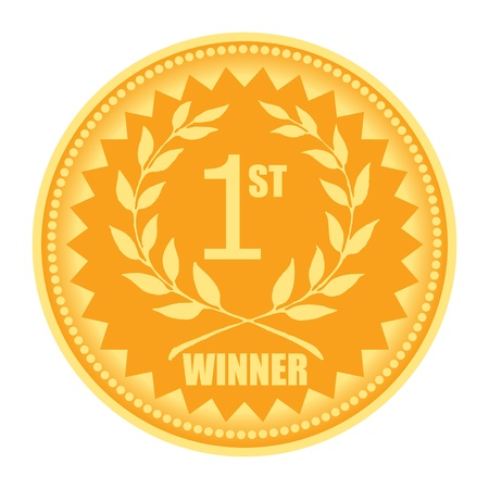 achiever: 1st winner award sign