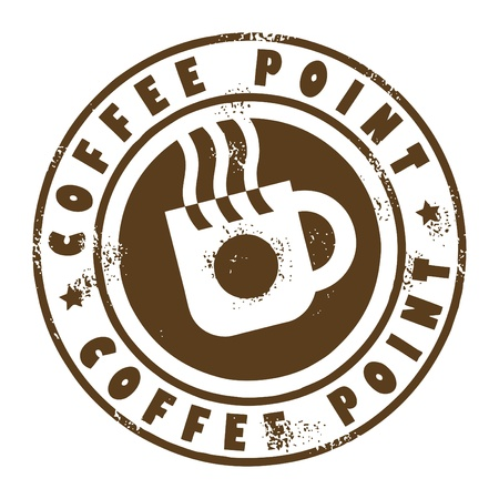 Grunge stamp with coffee cup Vector
