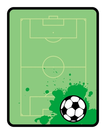 Green board, a football theme Stock Vector - 13872337