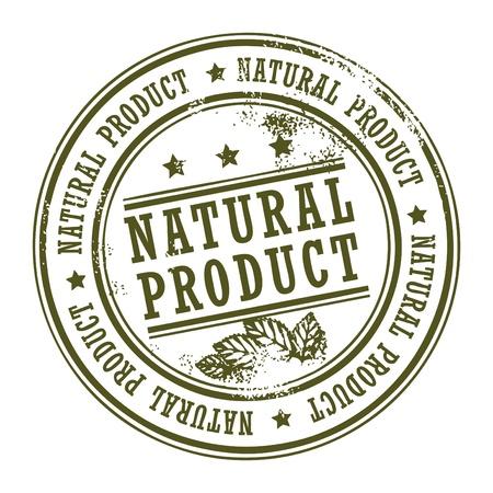 sello de goma: Grunge sello de caucho con peque�as estrellas y la palabra de productos naturales en el interior Vectores