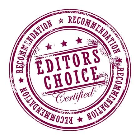 impress: Grunge timbro di gomma con le stelle di piccole dimensioni e la scelta delle parole all'interno Editors