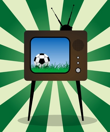Retro TV football Vector