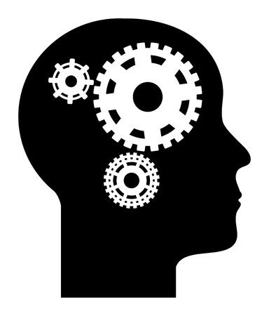 mente humana: La mente humana Vectores