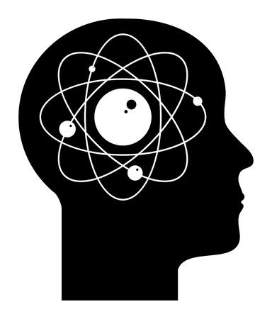 Human mind - atom Stock Vector - 13885387