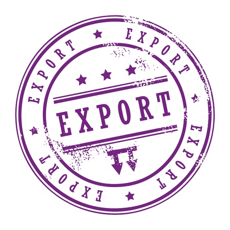 export: Grunge rubber stamp with small stars and the word Export inside Illustration