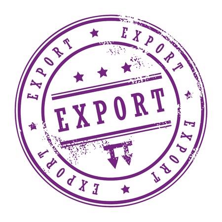 Grunge sello de caucho con pequeñas estrellas y la palabra dentro de las exportaciones Ilustración de vector