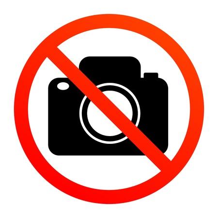 No hay señales de fotografía Ilustración de vector