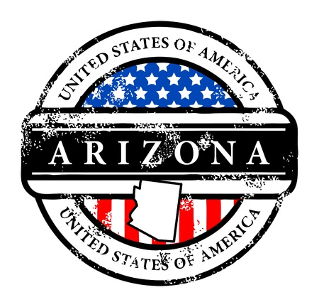 Grunge rubber stamp with name of Arizona Vector
