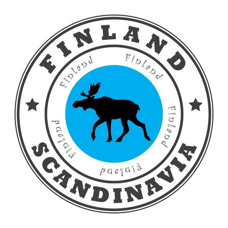 scandinavia: Grunge rubber stamp with word Finland, Scandinavia inside Illustration