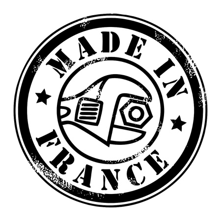 Made in France grunge style stamp Vector