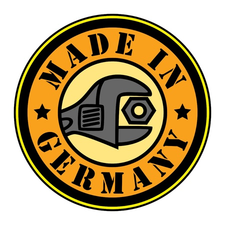 made in germany: Made in Germany stamp Illustration