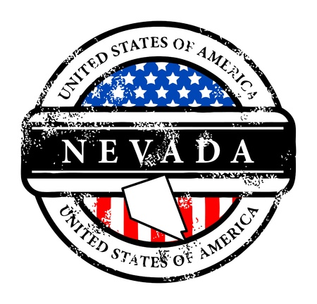 Grunge rubber stamp with name of Nevada Vector