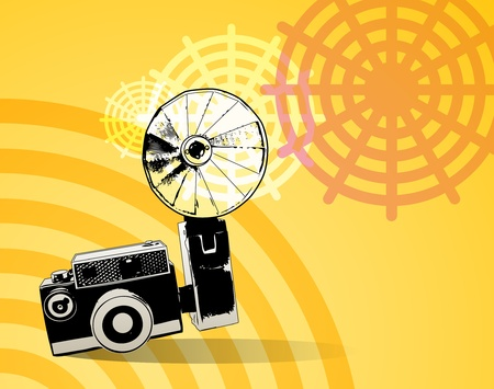 viewfinder vintage: Abstract retro photography background