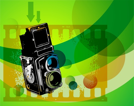 viewfinder: Abstract background with retro camera