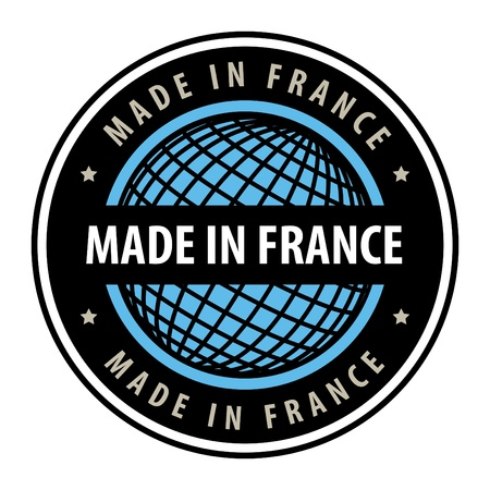 Made in france label Stock Vector - 13945915