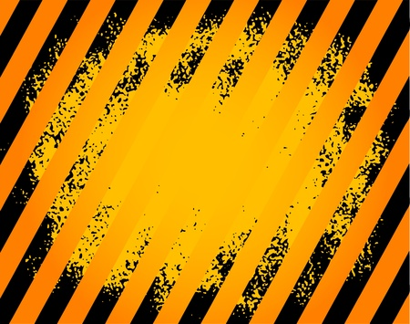 Black and yellow hazard stripes grunge background Stock Vector - 13946272