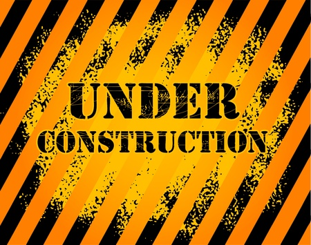 Under construction grunge background Vector