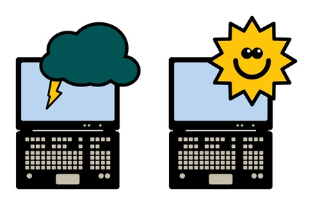 Laptop computer - storm and clear Stock Vector - 13946154