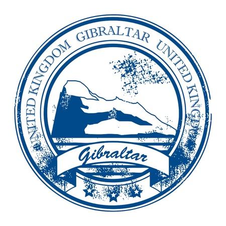 lions rock: Grunge rubber stamp with rock and the word Gibraltar, United Kingdom inside Illustration
