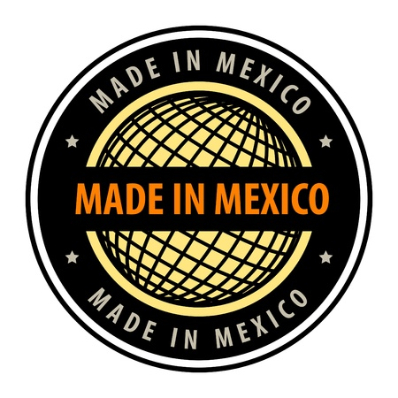 Made in mexico label Vector