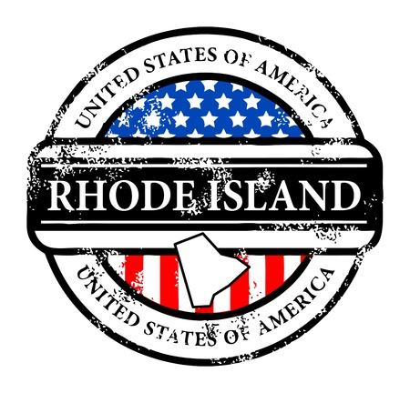 Grunge rubber stamp with name of Rhode Island Vector