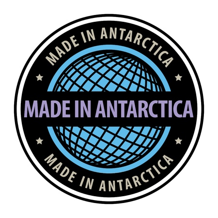 Made in Antarctica label Vector