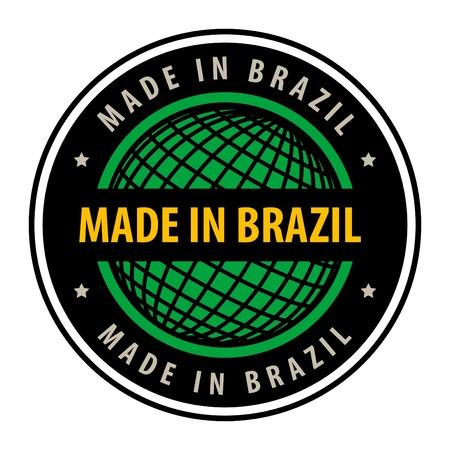 Made in Brazil label Vector