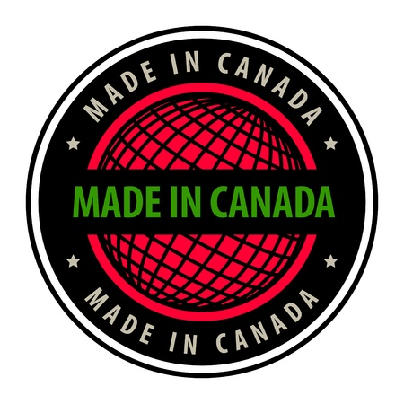 Made in Canada label Vector