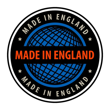 Made in England label Vector