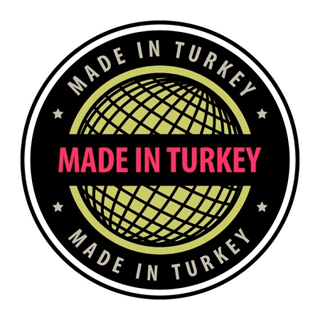 Made in Turkey label Vector