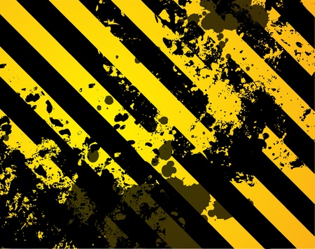 abstract danger: Black and yellow grunge background